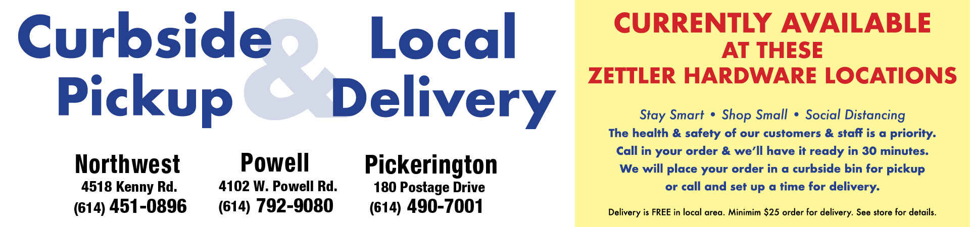 Curbside Pickup and Delivery