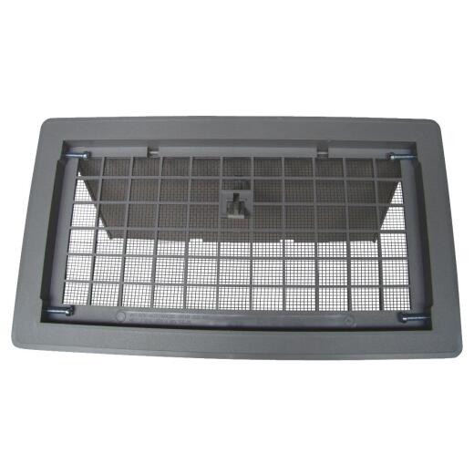 Witten 8 In. x 16 In. Gray Manual Foundation Vent with Damper