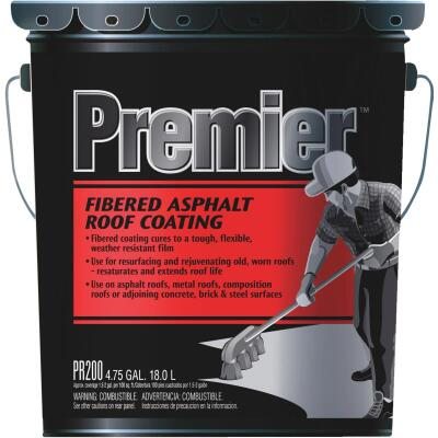Premier 5 Gal. Fibered Asphalt Roof Coating