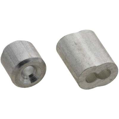 National 3/32 In. Aluminum Garage Door Ferrule & Stop Kit