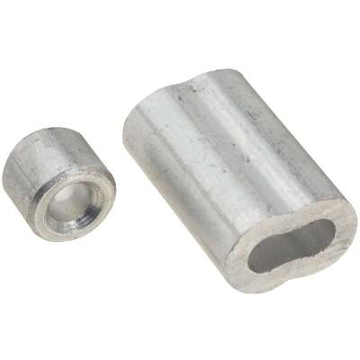 National 3/16 In. Aluminum Garage Door Ferrule & Stop Kit