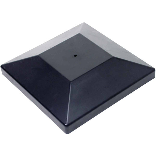 Outdoor Accents Decorative Black Post Cap for 6x6 Post