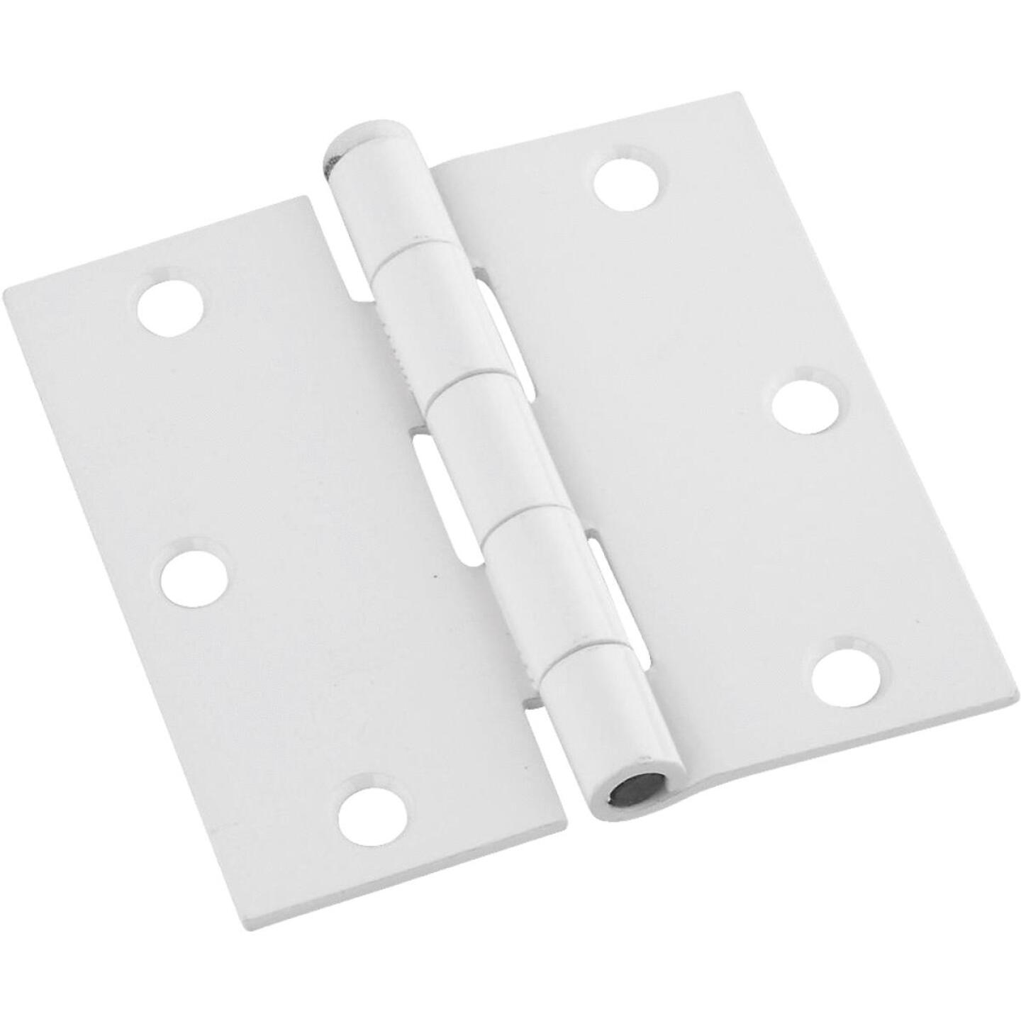 National 3-1/2 In. Square White Door Hinge (3-Pack) Image 1