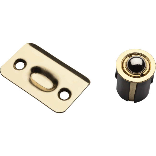 National 1440 Polished Brass Drive-In Ball Catch