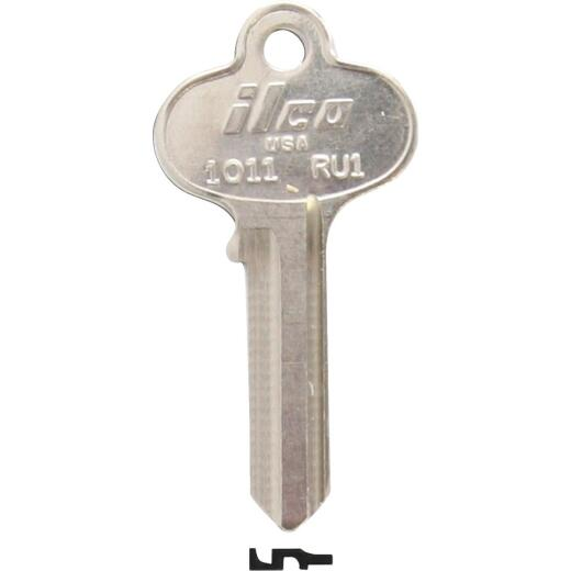 ILCO Russwin Nickel Plated File Cabinet Key, RU1 (10-Pack)
