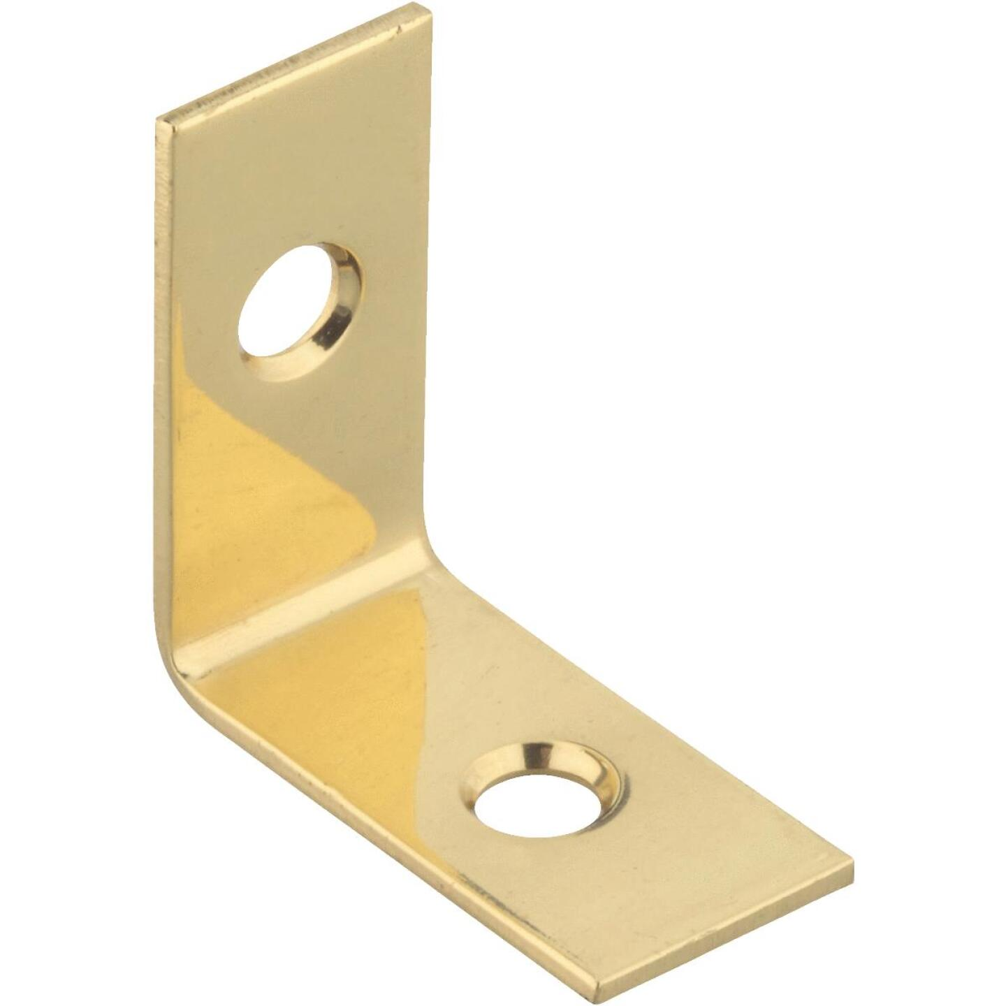 National Catalog V1875 1 In. x 1/2 In. Solid Brass Corner Brace Image 1