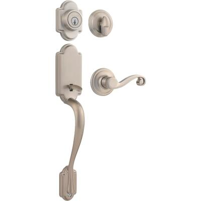Kwikset Signature Series Arlington Satin Nickel Entry Door Handleset with Smartkey