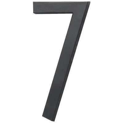 Hy-Ko Architectural Series 6 In. Satin Black House Number Seven
