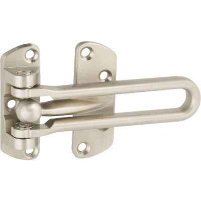 National Satin Nickel Decorative Door Security Guard