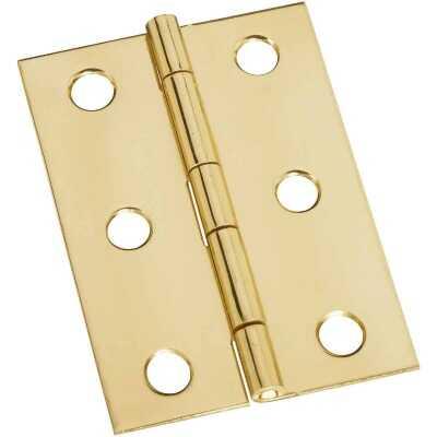 National 1-3/4 In. x 2-1/2 In. Brass Medium Decorative Hinge (2-Pack)