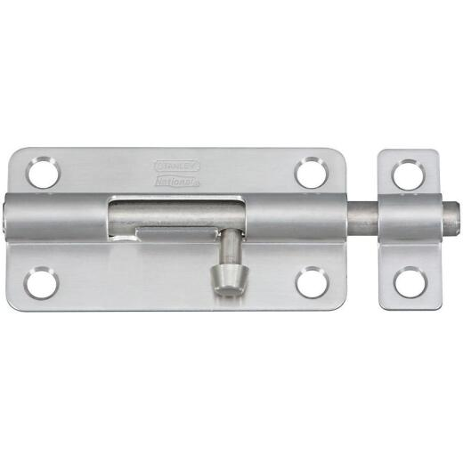 National 434 4 In. Stainless Steel Door Barrel Bolt