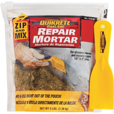 Quikrete Zip & Mix Mortar Polymermodified 3 Lb Repair Mortar Mix