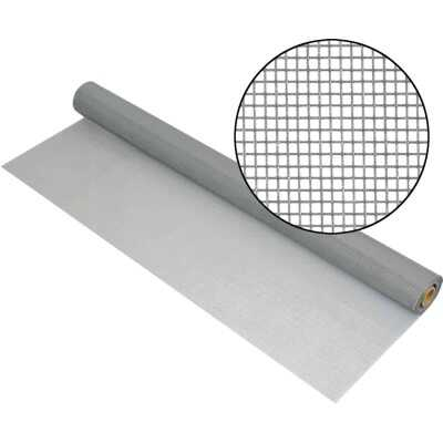 Phifer 24 In. x 100 Ft. Gray Premium Polyester Mesh Screen Cloth