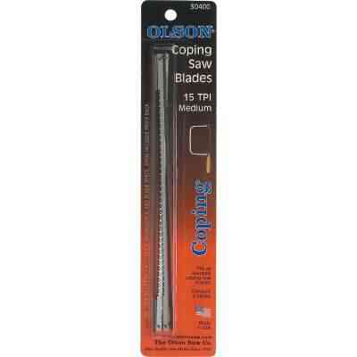 Olson 6-1/2 In. 15 TPI Coping Saw Blade (4-Pack)