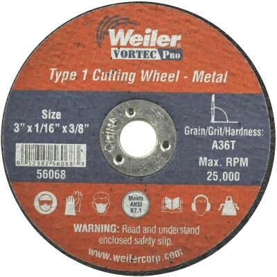 Weiler Vortec 3 In. Type 1 Cut-Off Wheel