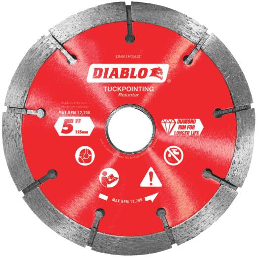 Diablo 5 In. Tuck Point Rim Dry/Wet Diamond Blade