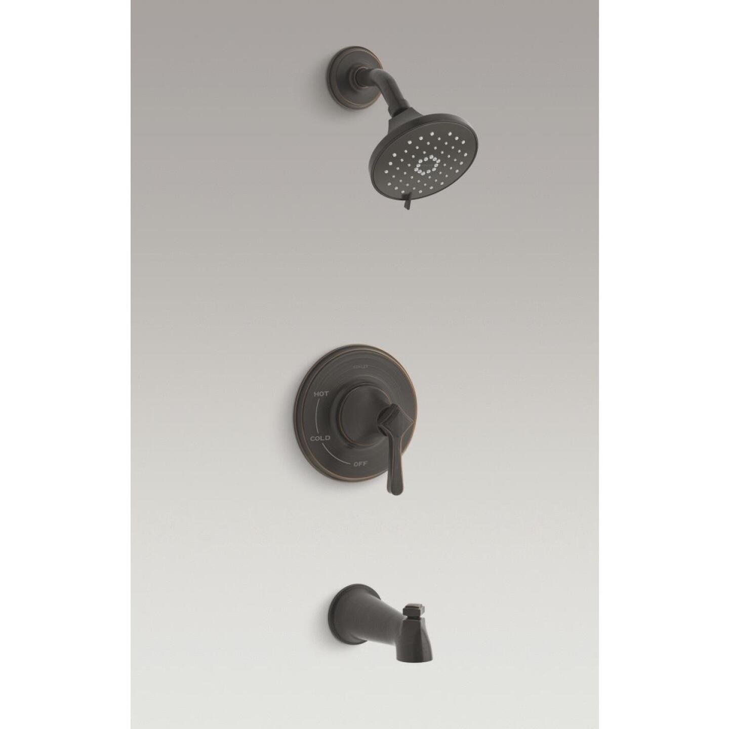 Kohler Georgeson Oil-Rubbed Bronze Single-Handle Water-Saving Tub & Shower Faucet Image 2