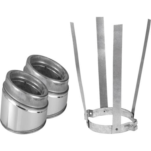 SELKIRK Sure-Temp 15 Degree 6 In. Stainless Steel Insulated Elbow Kit