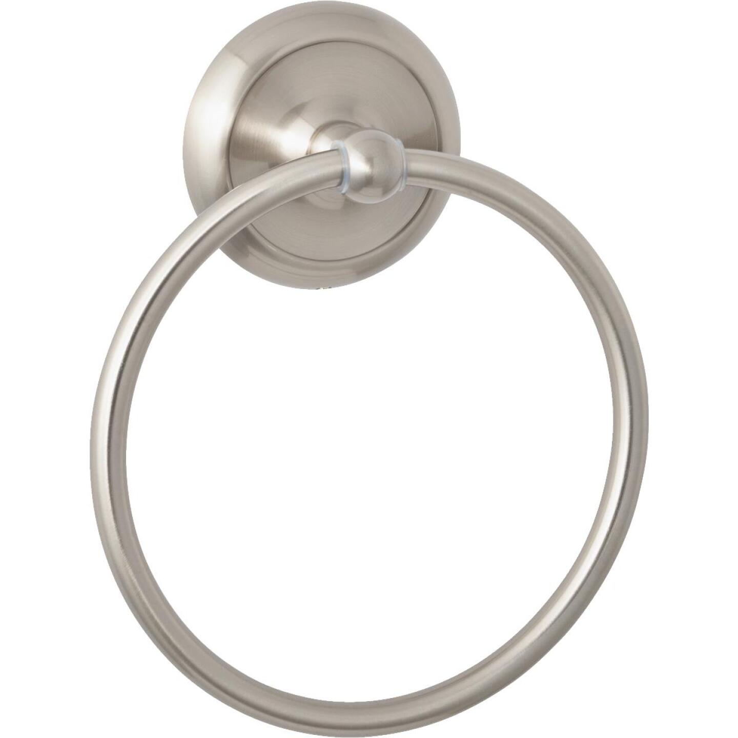 Home Impressions Brushed Nickel Towel Ring Image 1