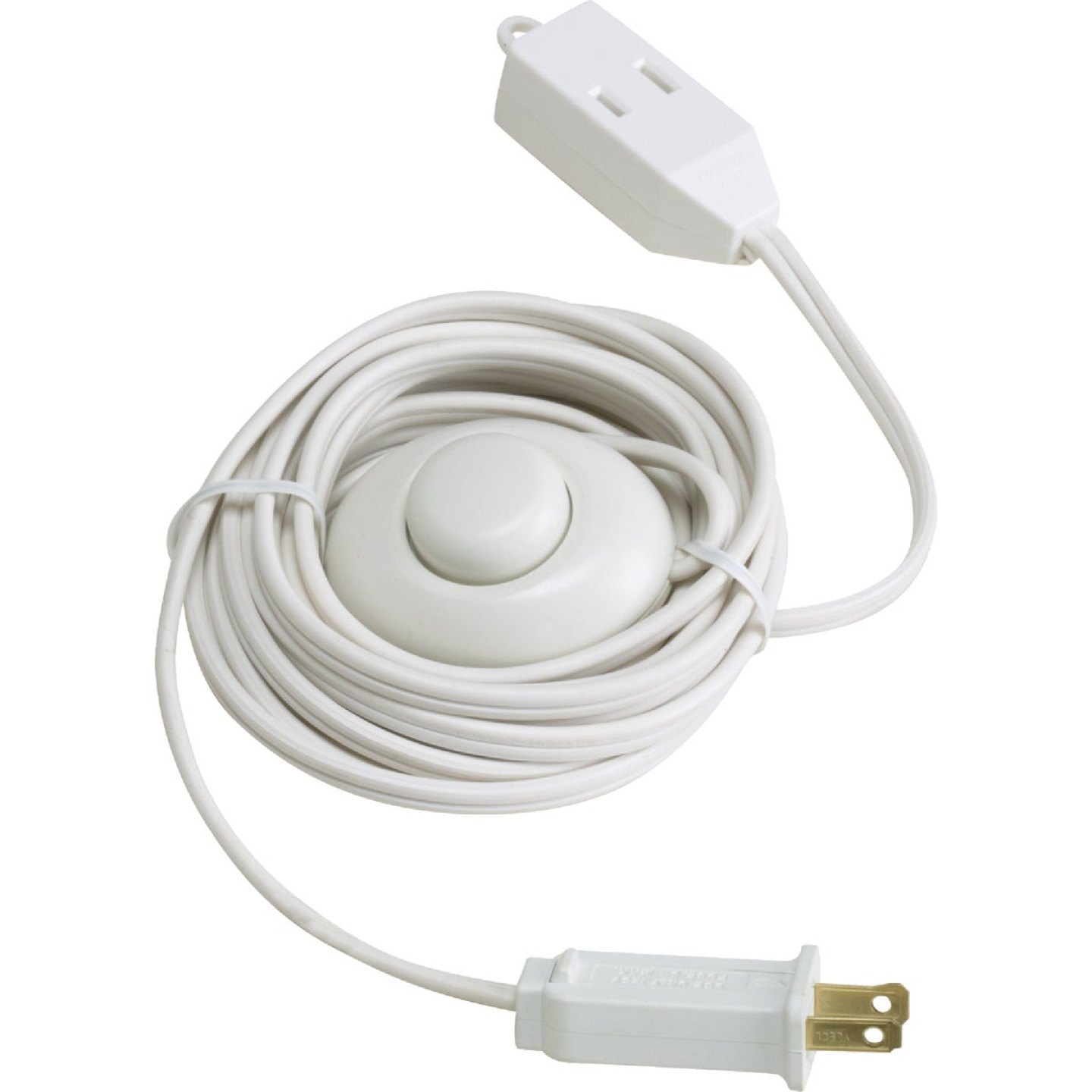 Do it 15 Ft. 18/2 White Extension Cord with Foot Switch Image 1
