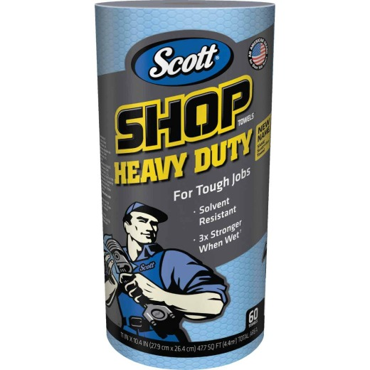 Scott Pro 11 In. W x 10.4 In. L Disposable Heavy-Duty Shop Towel (60-Count)