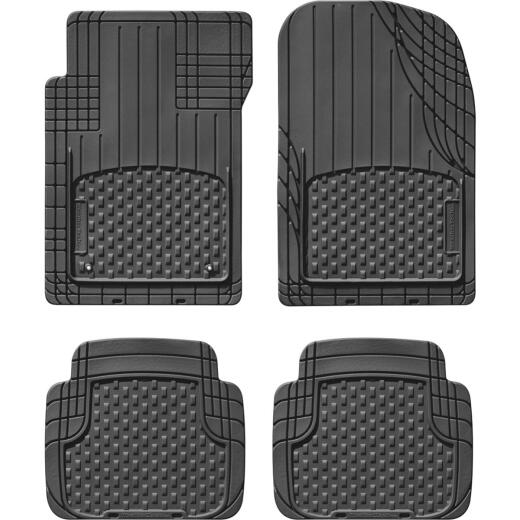 WeatherTech AVM Trim-to-Fit Black Rubber Floor Mat (4-Piece)