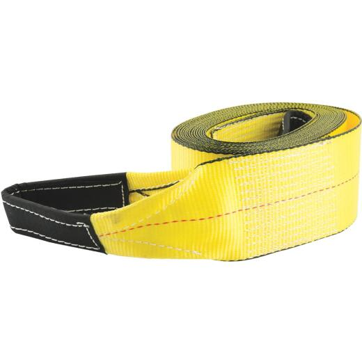 Erickson 3 In. x 30 Ft. 7500 Lb. Polyester Tow Strap with Loops, Yellow