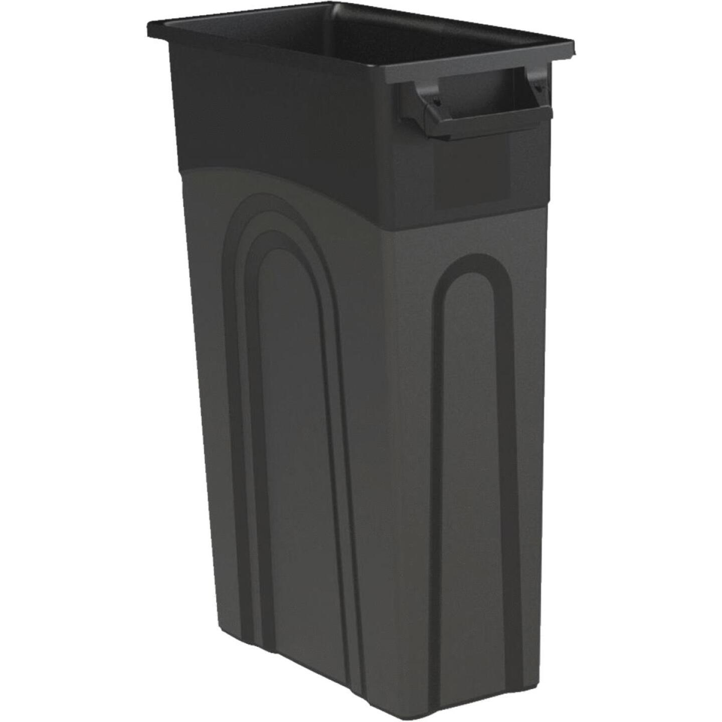 United Solutions 23 Gal. Black Trash Can Image 1