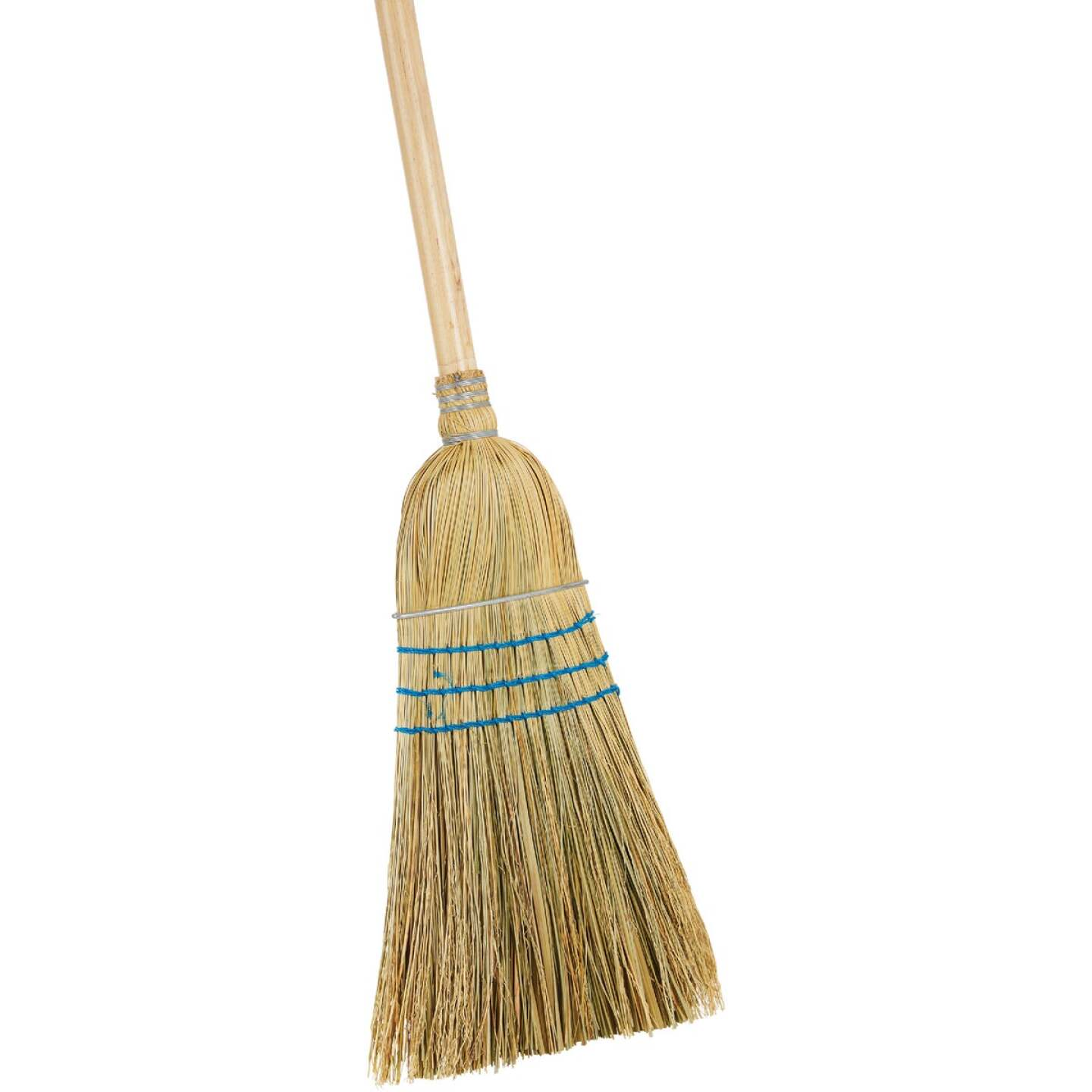 Reynera 13 In. W. x 42 In. L. Natural Hardwood Handle Good Quality Corn Broom Image 1
