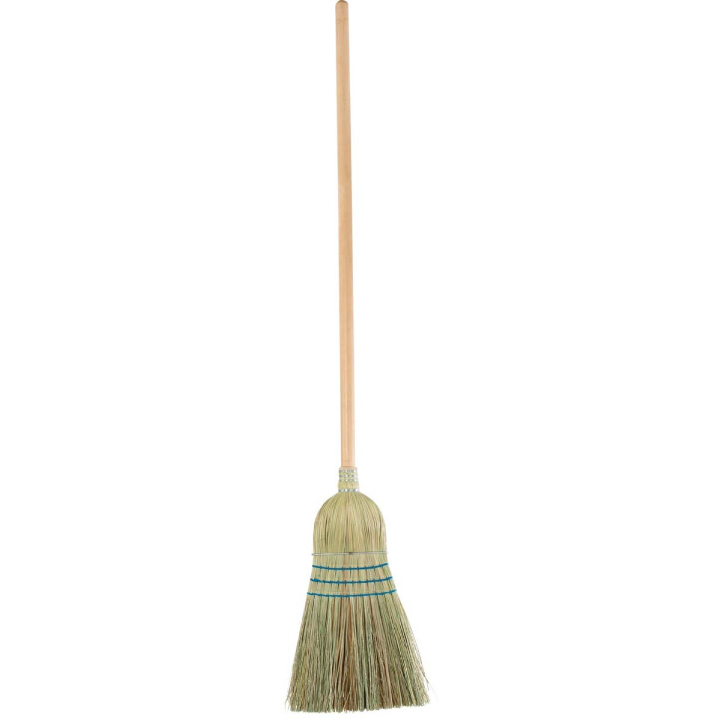 Reynera 13 In. W. x 42 In. L. Natural Hardwood Handle Good Quality Corn Broom Image 2