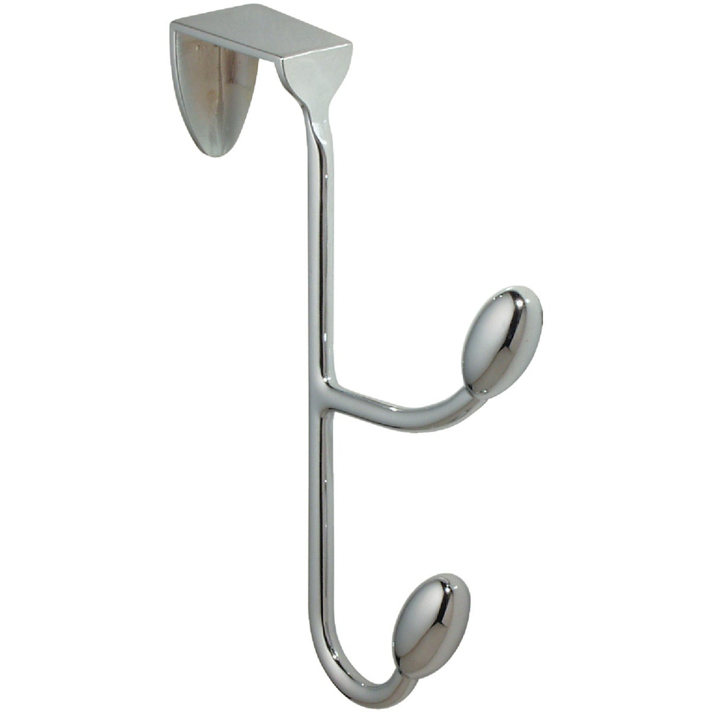 InterDesign Chrome 6 In. 4-1/4 In. Over-the-Door Hook Image 1