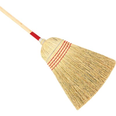 Harper 12 In. W. x 56 In. L. Natural Wood Handle Contractor Corn Broom
