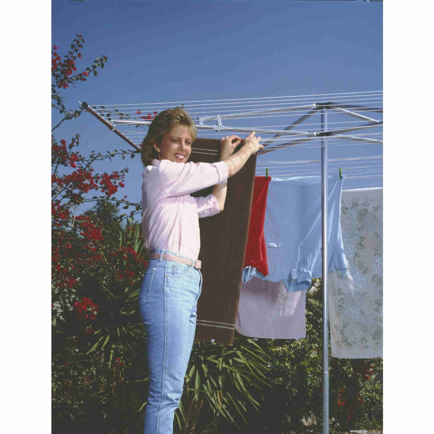 Household Essentials Sunline 72 In. x 72 In. 210 Ft. Drying Area Umbrella Style Clothes Dryer Image 2