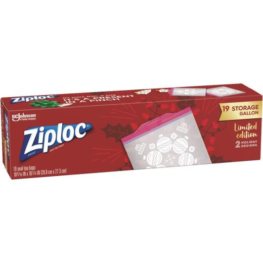 Ziploc Gallon Press Seal Holiday Storage Bag (19 Count)