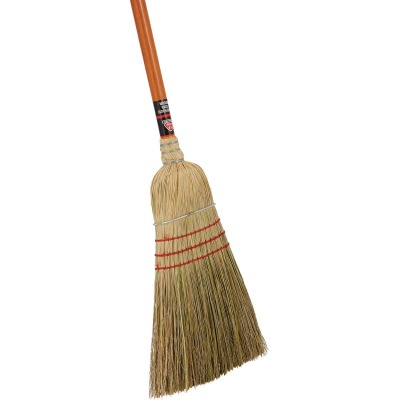 Nexstep 10 In. W. x 56 In. L. Painted Wood Handle Commercial Warehouse Corn Broom