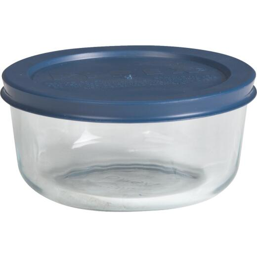 Pyrex Simply Store 2-Cup Round Glass Storage Container with Lid