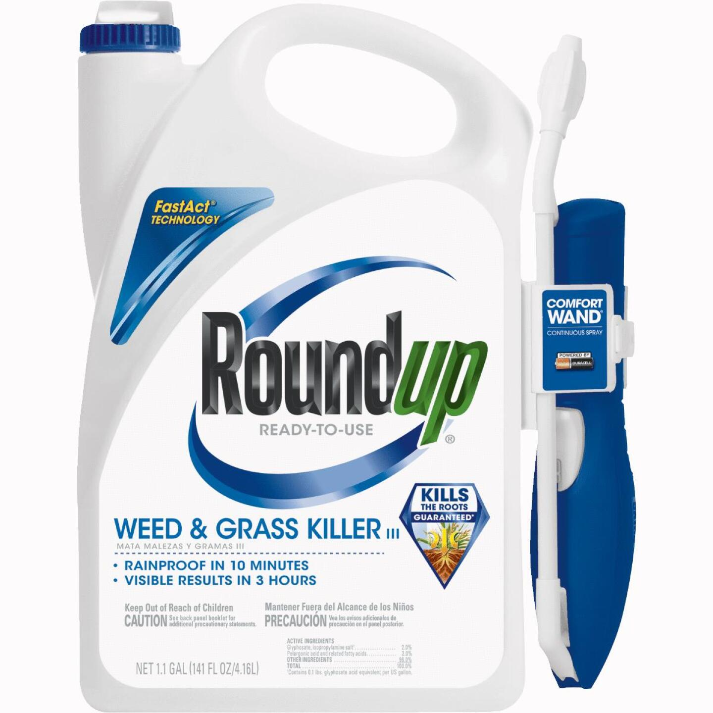 Roundup 1.1 Gal Ready To Use Wand Sprayer Weed & Grass Killer III Image 1