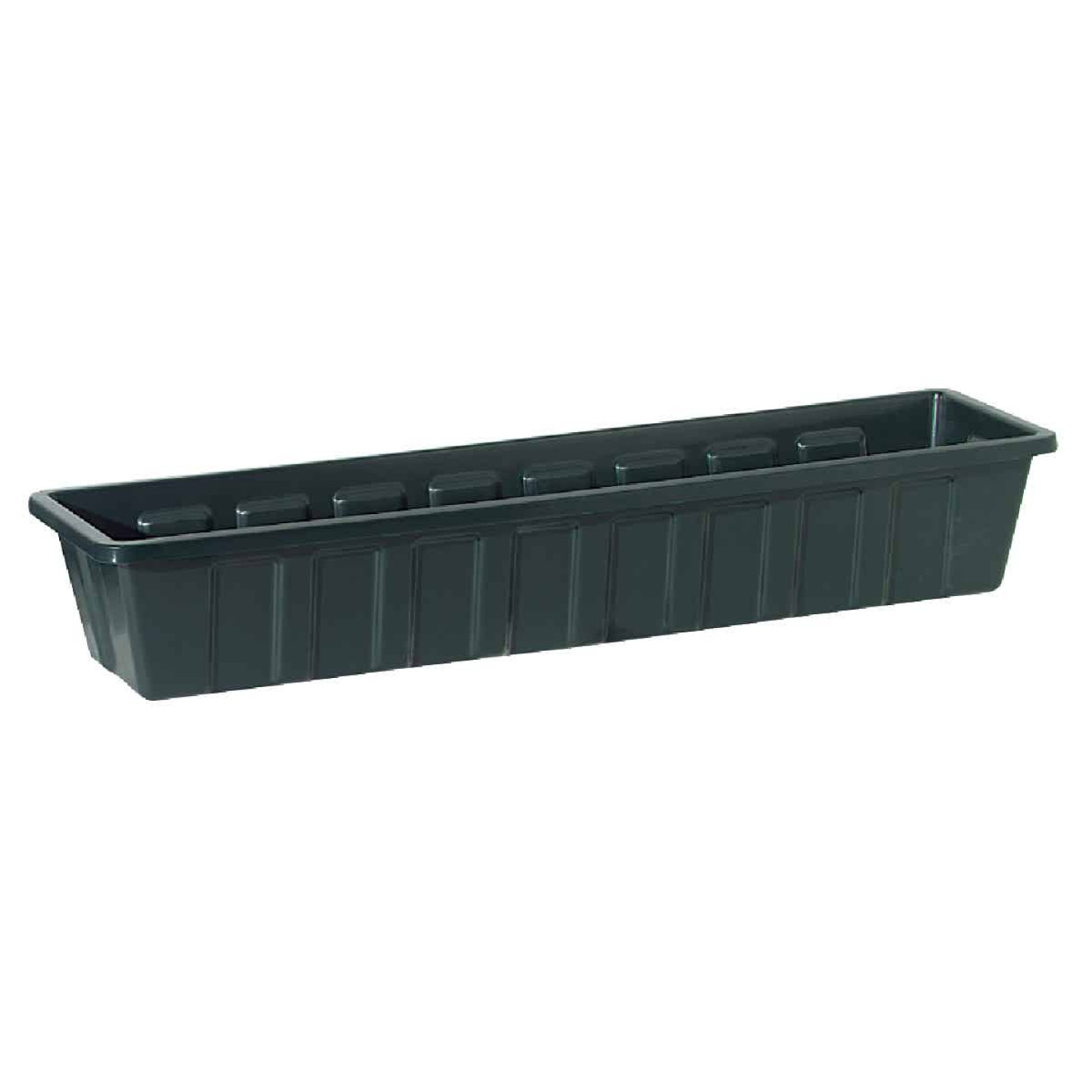 Novelty Poly-Pro 30 In. Polypropylene Hunter Green Flower Box Planter Image 1