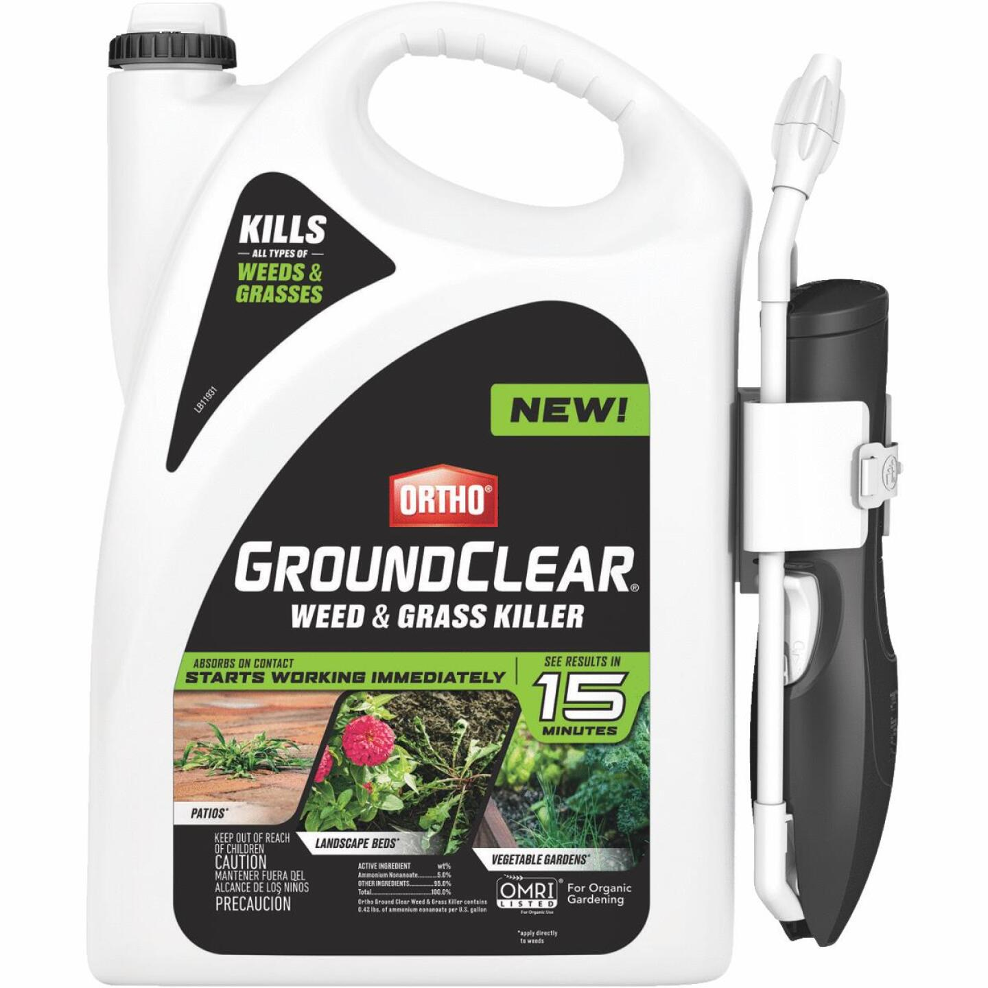 Ortho GroundClear 1 Gal. Ready To Use Wand Sprayer Weed & Grass Killer Image 1
