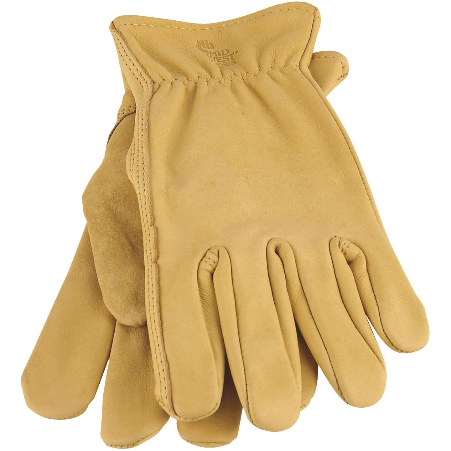 Midwest Gear Men's XL Smooth Grain Leather Work Glove Image 1