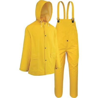 West Chester 3XL 3-Piece Yellow PVC Rain Suit