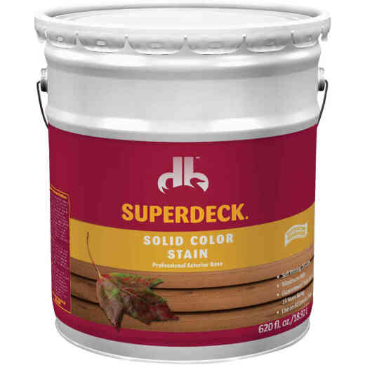 Duckback SUPERDECK Self Priming Solid Color Stain, Brillant White, 5 Gal