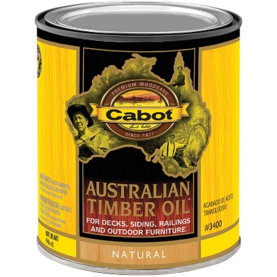 Cabot Australian Timber Oil Translucent Exterior Oil Finish, Natural, 1 Qt.