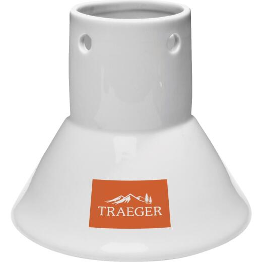 Traeger Porcelain Chicken Throne Roaster