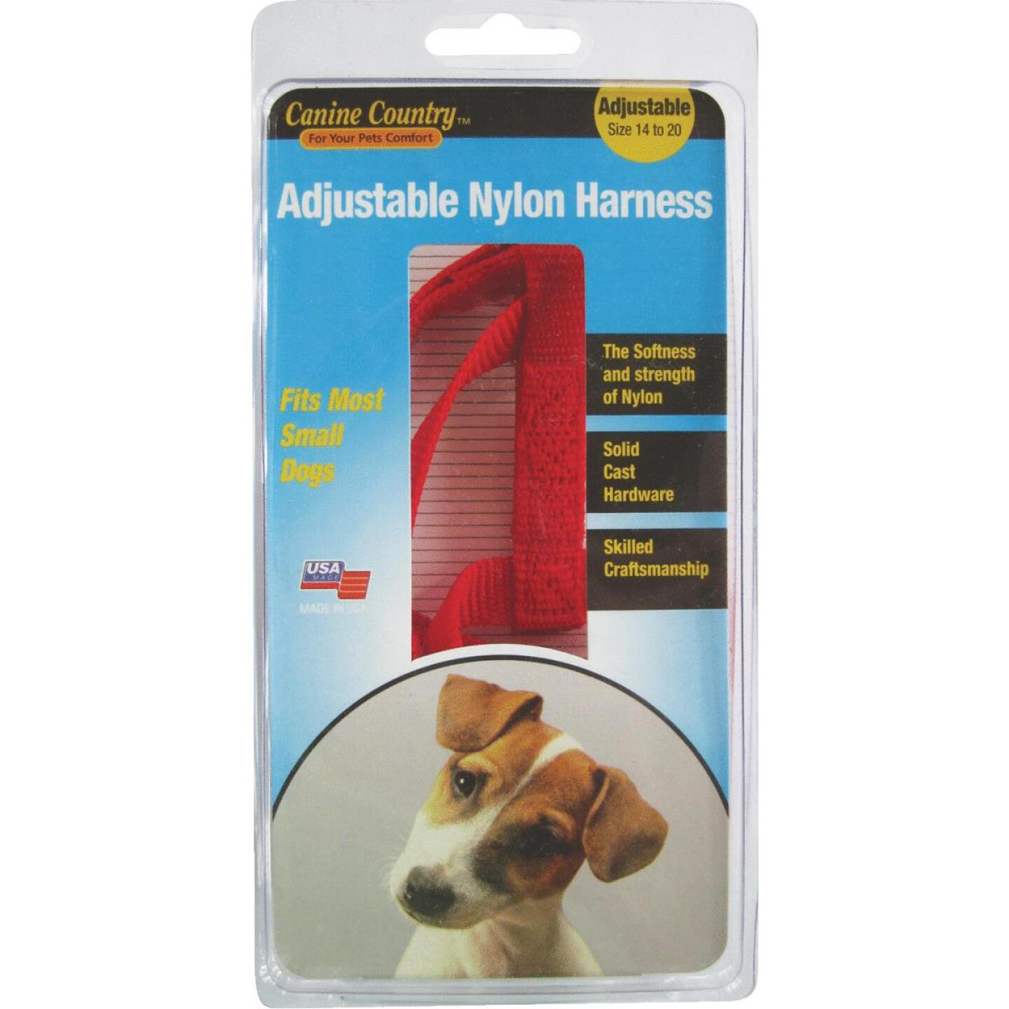 Westminster Pet Ruffin' it 14 In. to 20 In. Red Harness Image 1