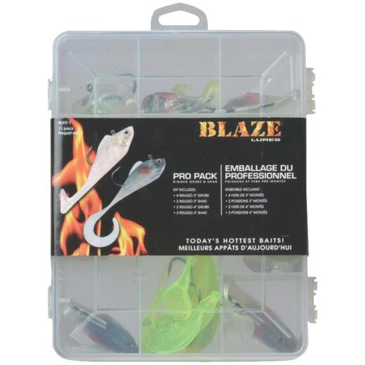 Blaze 11-Piece Assorted Fishing Lure Kit